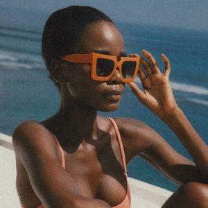 Tezza Co Patty Sunglasses in Orange Sherbet
